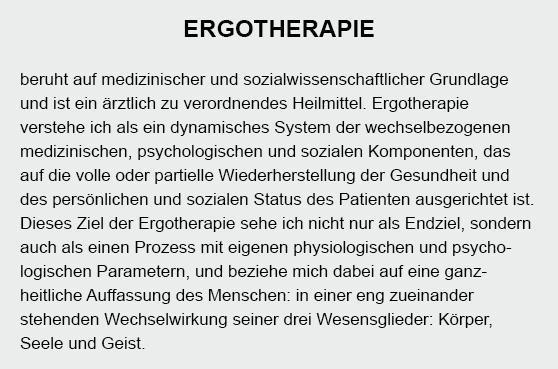 Ergotherapie aus  Krüzen