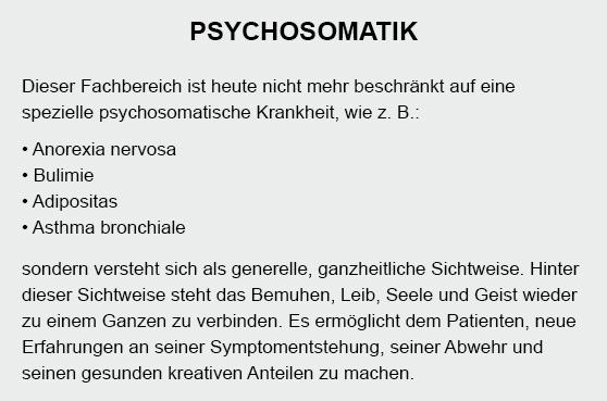 Psychosomatik in  Kollow